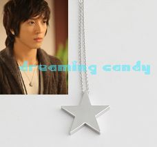 Korean TV Drama You Are Beautiful Plain Star Necklace