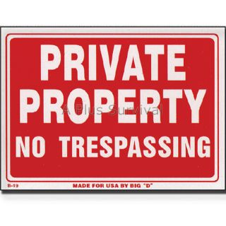 No Trespassing 9 x 12 Safety Sign for Home Business Office
