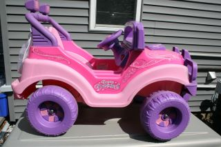 Barbie Dream Dazzlers Pink Jeep 12V with Charger