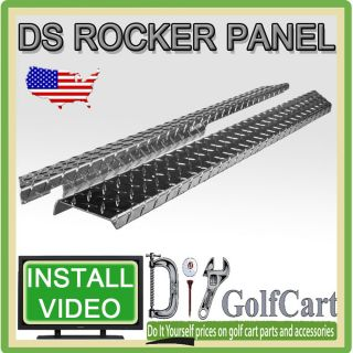 Club Car DS Diamond Plate Golf Cart Rocker Panel Accessory Kit