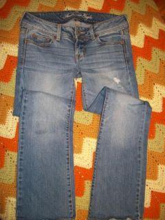 Cute American Eagle AE Slim Boot Distressed Stretch Jeans 4 Short 30 w