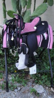 Donkey & Miniature Horse COMPLETE 8 PINK Western Saddle Package