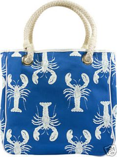 NWT Donna Dixon Canvas Tote / Handbag ~ Lobster ~ Blue
