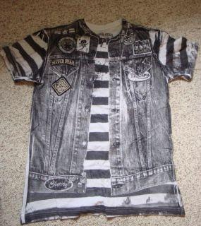 Duane Peters shirt Silver Star Large Punk Skate Board US Bombs Rancid