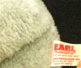 Earl The Dead Cat Plush Novelty 1985 Mad Dog Productions