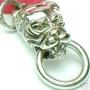 925 Sterling Silver Bulldog Door Knocker Charm Pendant