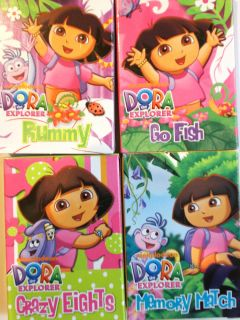 Nick Jr Dora The Explorer Mini Card Games 2 5 L x 1 75 w Assorted