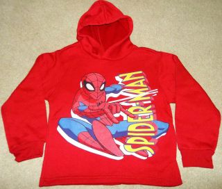 NEW Boys SPIDER MAN Fleece SWEAT SHIRT ~ TOP Hood HOODIE ~ NWOT Medium