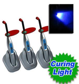 3pcs Dental Dentist Wireless Cordless LED B Curing Light Curing Lamp