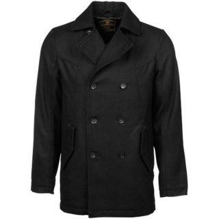 Genuine Element Eastport Wool Blend Peacoat Jacket M New Black Retail