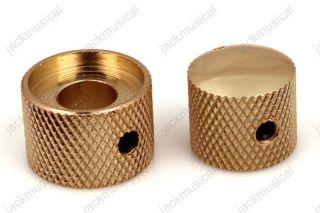 SET Gold Dual Screw Style Guitar Control Knob for Dual Pot