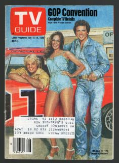 1980 Tv Cover Only ~ Dukes of Hazzard,John Schneider,Catherine Bach