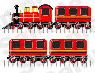 Red Yellow Train Engine Car Baby Boy Nursery Kids Wall Art Stickers