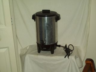 Vintage West Bend Electric Percolator coffee maker made in America