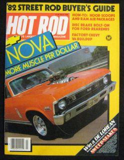 Hot Rod Magazine March 1982 Chevy Nova 396SS