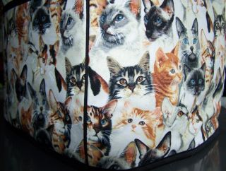 Cat Breeds Quilted Fabric Cover 4 Slice Toaster New