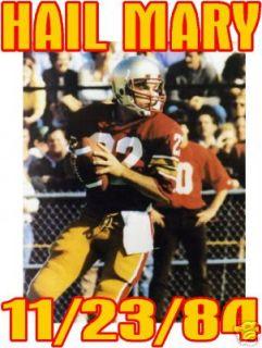 Doug Flutie Hail Mary Football Boston College T Shirt
