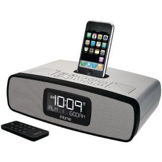 iHome IP90SK iPod iPhone Dual Alarm Clock Radio Silver