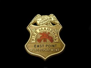 East Point GA Junior Fire Marshall Badge Fire Department