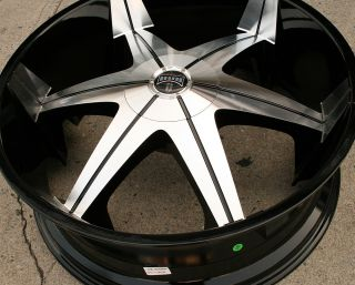DUB BIG HOMIE 3 26 BLACK RIMS WHEELS BMW 645 650 / 26 X 9.5 5H +10