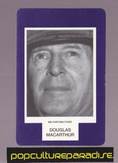 General Douglas MacArthur RARE Board Game Photo Card