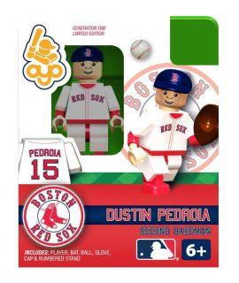 Dustin Pedroia OYO Mini Fig Figure Lego Compatible Boston Red Sox NIP