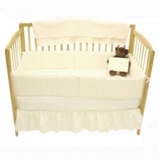 Basic Solid Ecru Plain Cream Color Unisex Baby Boy/Girl Nursery Crib