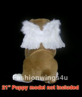 Feather wings for dogs cats pets fairy dove parrot angel costume