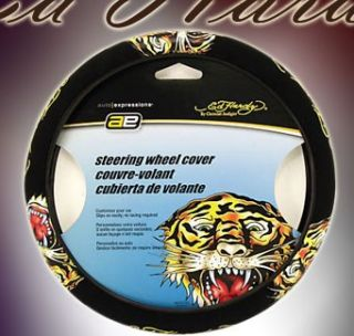 Ed Hardy Tiger Car Seat Covers Steering Wheel Cover New