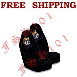 brand new set ed hardy bulldog king 2 front seat covers for car truck