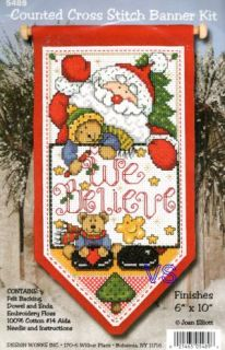 Design Works Counted Cross Stitch Kit 6 x 10 We Believe Banner Sale