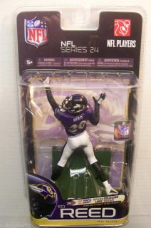 MCFARLANE NFL SERIES 24 ED REED VARIANT PURPLE CHASE COLLECTOR LEVEL
