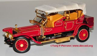 Franklin Mint 124 1911 Rolls Royce Tourer  Ltd Ed of 1500 diecast car