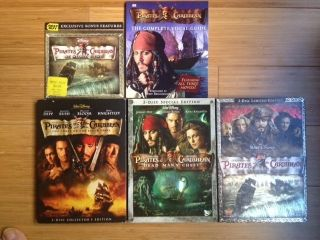 of The Caribbean Trilogy 7 DVD w Best Buy Exclusive Booklet DVD