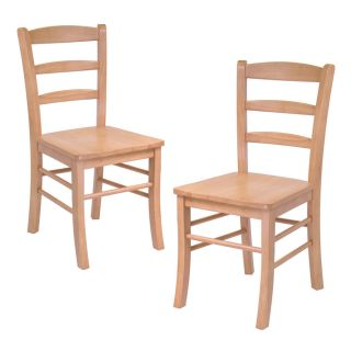 Ligh Oak Solid Wood Ladder Back Dining Room Chairs Se Winsome
