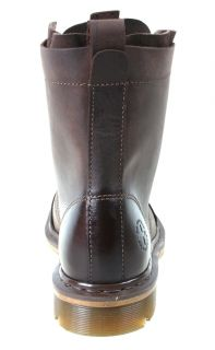Dr Martens Mens Boots Pier Dark Brown Wyoming Leather 13337201 Sz 7 M