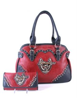 Ford Mustang Purse Wallet Set 45th Anniversary Red