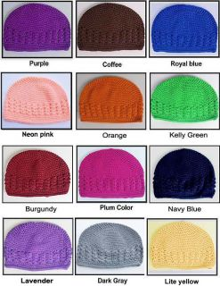 6pcs Crochet Hat Cap Beanie Baby Girl Toddler Lot