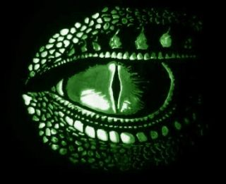 green eyed dragon cross stitch pattern