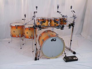 Drum Workshop DW Jazz Series 6 Piece Custom Drumset w Hardare Soft