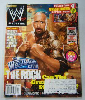 WWE Magazine Dwayne Johnson The Rock March 2012 053112R1