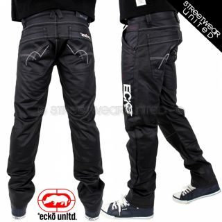 Ecko Unltd Wet Look Rolls Jeans Marc Coated Denim Relax Fit Hip Hop