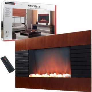 Wall Mounted Wood Trim Panel Electric Fireplace Heater