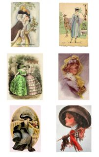 WOMEN LADIES ILLUSTRATION Images Drawings Clipart CD JPEG Flapper Hats