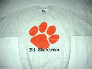 Ed Sheeran Jumper Sweatshirt Concert 2012 New Tour T Shirt Grey Large