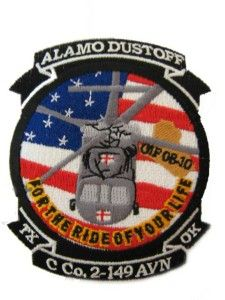 co 2 149 avn alamo dustoff army aviation oif patch