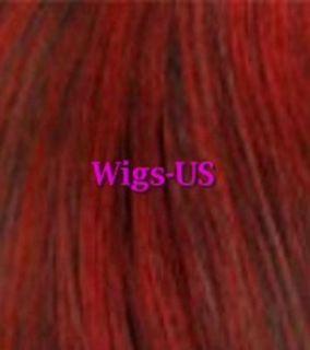 Black Dark Red Burgundy Chin Length Bob Skin Part Wig