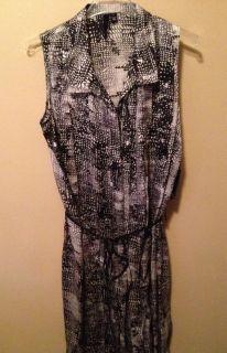 460 EDUN printed silk shift dress Sz Medium NWT