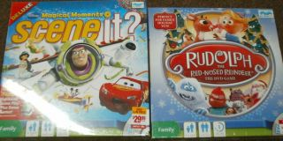 MAGICAL MOMENTS SCENE IT RUDOLPH RED NOSED DVD GAME LOT OF 2 GAMES