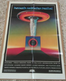ANIMATION FESTIVAL MOVIE POSTER 1 Sheet 1977 ORIGINAL 27x41 PINK FLOYD